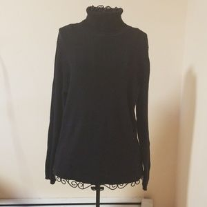 Kim Rogers black turtleneck size XL